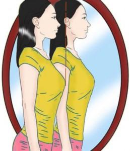 držanie tela na zvýraznenie pŕs